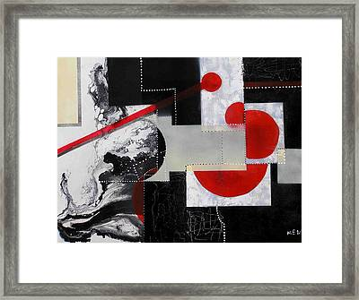 Geometry In Space Framed Print by Evguenia Men
