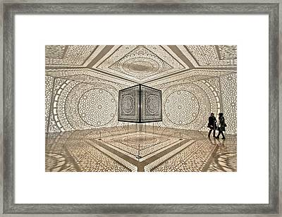 Geometry Framed Print by Jane Hu