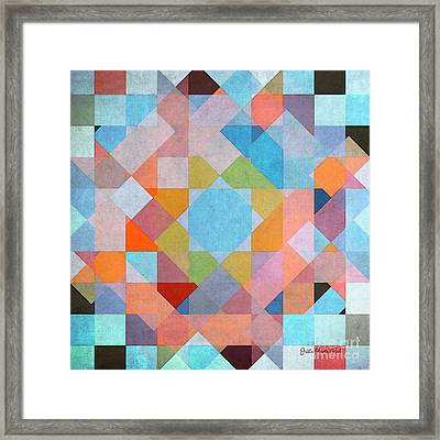 Framed Print featuring the digital art Geometry by Jutta Maria Pusl