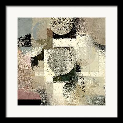 Abstract Forms Digital Art Framed Prints