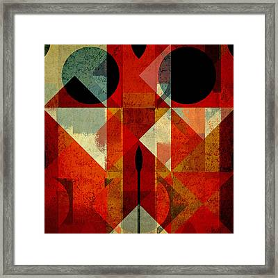 Geomix-04 - 39c3at22g Framed Print by Variance Collections