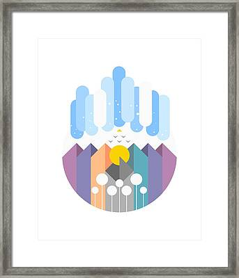 Geomy Framed Print