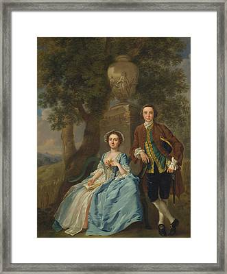 George And Margaret Rogers Framed Print