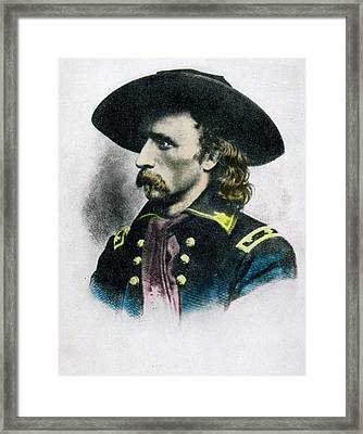 George Armstrong Custer 1839 To 1876 Framed Print by Vintage Design Pics