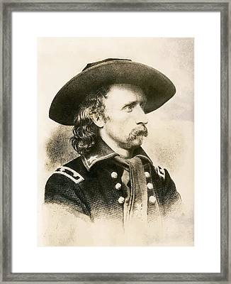George Armstrong Custer  Framed Print by War Is Hell Store