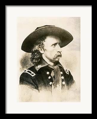 General Custer Framed Prints