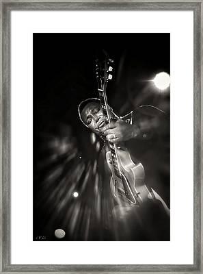George Benson Black And White Framed Print