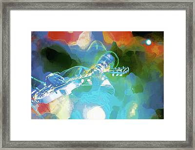 George Benson, Watercolor Framed Print