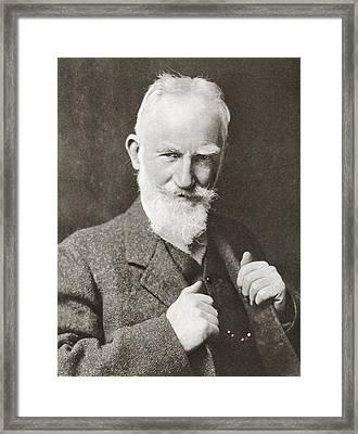 George Bernard Shaw, 1856 Framed Print by Vintage Design Pics