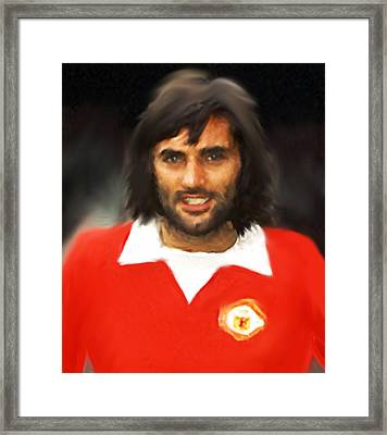 George Best  Framed Print by Enki Art