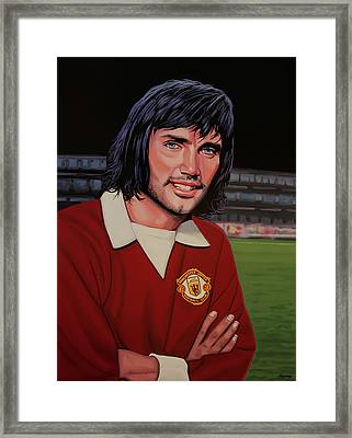 George Best Painting Framed Print