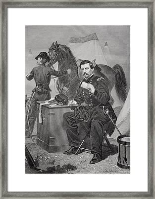 George Brinton Mcclellan 1826 - 1885 Framed Print by Vintage Design Pics