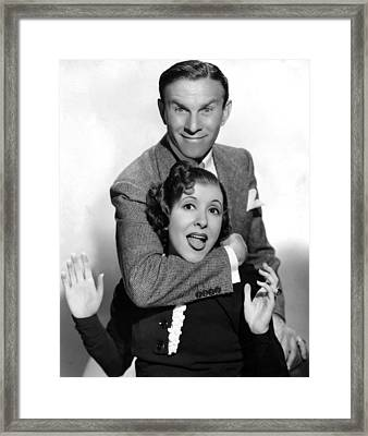 George Burns And Gracie Allen, 1936 Framed Print by Everett