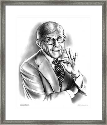 George Burns Framed Print by Greg Joens