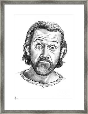 George Carlin Framed Print by Murphy Elliott