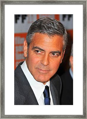 George Clooney At Arrivals For The Framed Print