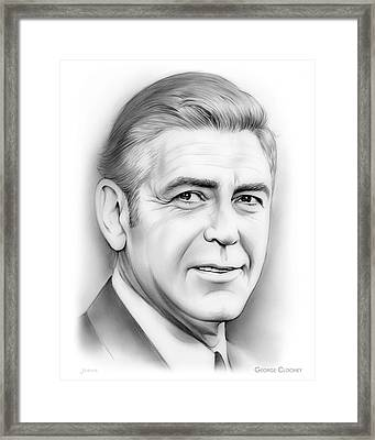 George Clooney Framed Print by Greg Joens