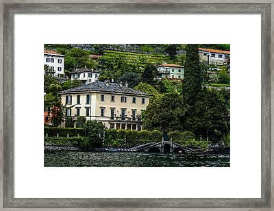George Clooney Home At Lake Como Framed Print