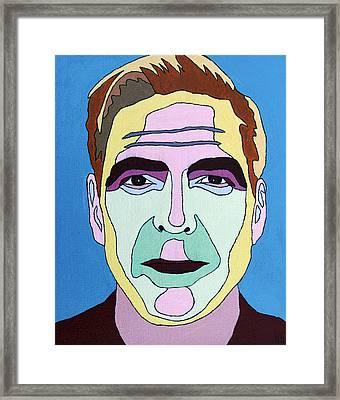 George Clooney Framed Print by Murray Stiller