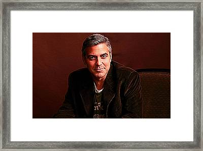 George Clooney Framed Print by Iguanna Espinosa