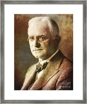 George Eastman, Entrepreneur By Mary Bassett Framed Print