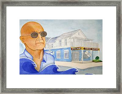 Framed Print featuring the painting George Gerlach by Paul Amaranto