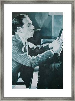 George Gershwin 1930s. Framed Print by Kevin Hopkins