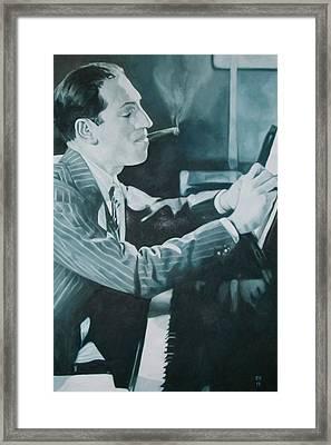 George Gershwin 1930s. Framed Print by Kevin Hopkins