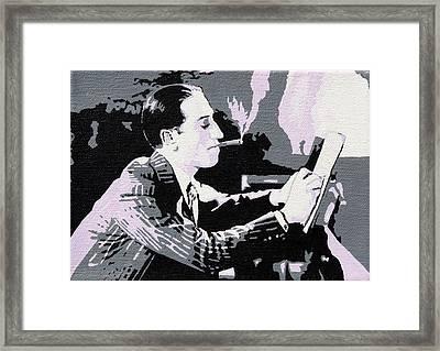 George Gershwin Composing Framed Print