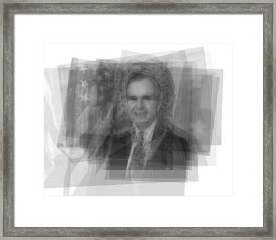 George H. W. Bush Framed Print by Steve Socha