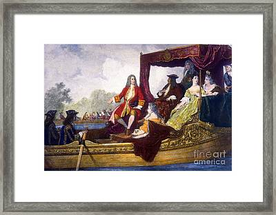 George Handel And King George I Framed Print by Science Source