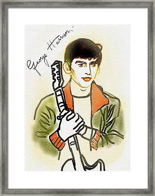 George Harrison - 2 Framed Print by GooDaCool Gallery