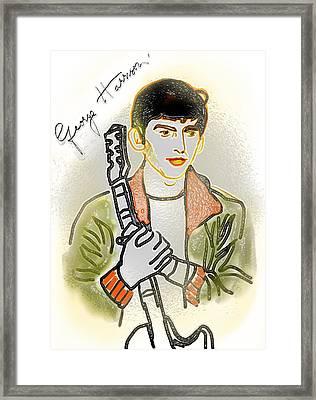 George Harrison - 3 Framed Print by GooDaCool Gallery