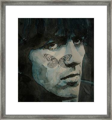 George Harrison @ Butterfly Framed Print by Paul Lovering