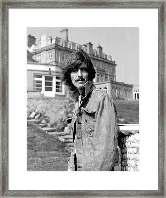 George Harrison Beatles Magical Mystery Tour Framed Print by Chris Walter
