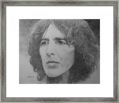 George Harrison Framed Print by Glenn Daniels