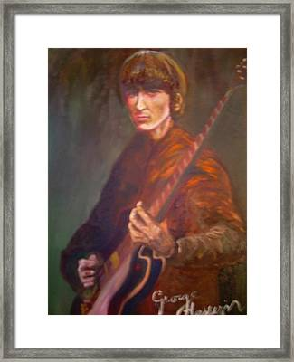George Harrison Framed Print by Leland Castro