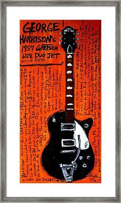 George Harrison's Gretsch Framed Print by Karl Haglund