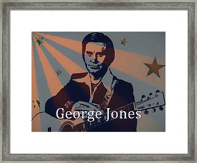 George Jones Poster Framed Print by Dan Sproul