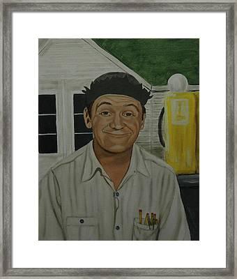 George Lindsey As Goober Framed Print by Tresa Crain