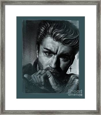 George Michael Framed Print by Andre Koekemoer
