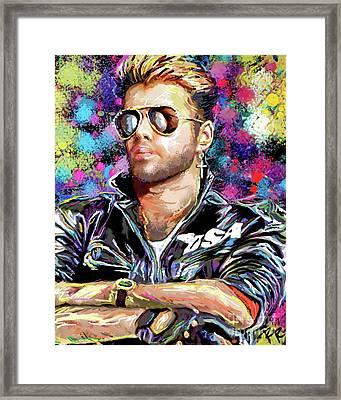 George Michael Art Framed Print