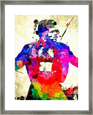 George Michael Grunge Framed Print