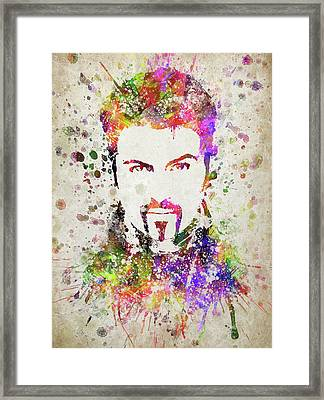 George Michael In Color Framed Print by Aged Pixel