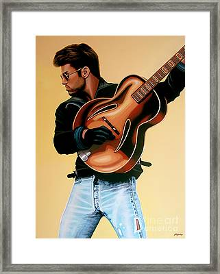 George Michael Painting Framed Print by Paul Meijering