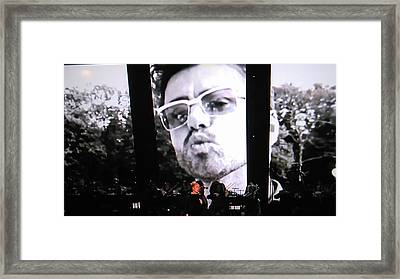 George Michael Sends A Kiss Framed Print by Toni Hopper