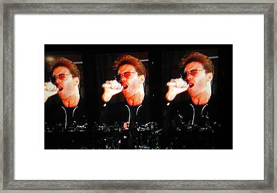 Framed Print featuring the photograph George Michael The Passionate Performer by Toni Hopper