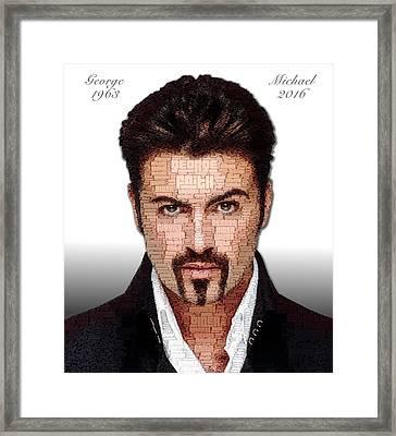 George Michael Tribute Framed Print