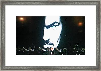 Framed Print featuring the photograph George Michael's Eye Appeal by Toni Hopper