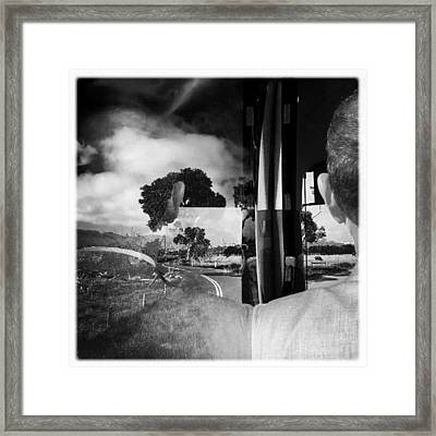 George On The Bus Framed Print by Kelly Jade King